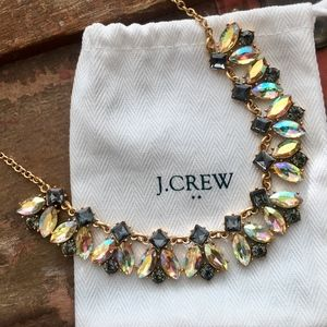 Pretty J. Crew Statement Necklace Crystals Dustbag